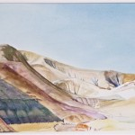 "Road to Dead Sea, 2012 watercolor, 10"" x 11"""