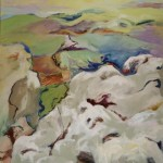 "On top of Mt. Arbel, 2008 oil on canvas, 34"" x 30"""