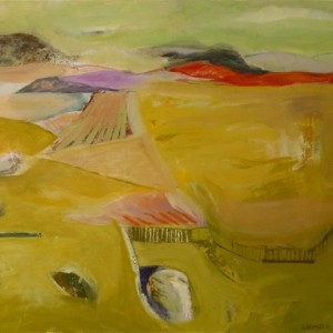 "The Land Stands with Patience, 2008 oil on canvas, 30"" x 36"""