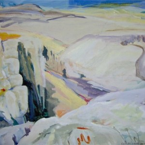 "View from Mt. Arbel, 2004 oil on canvas, 28"" x 30"""